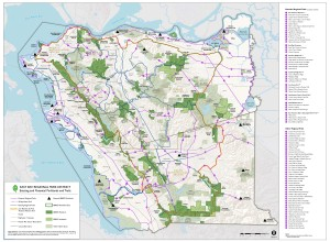 East Bay Regional Park District 2013 Master Plan Map designating Tesla as a potential regional preserve